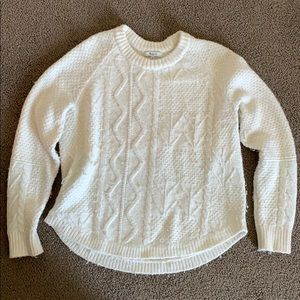White Madewell cable knit sweater (M)